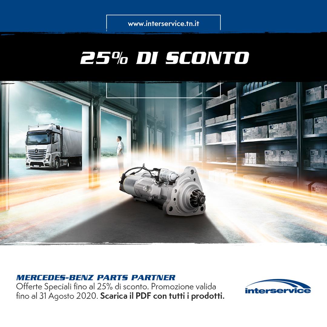 Mercedes Benz 25% di sconto